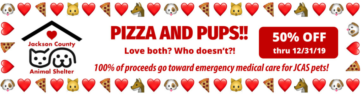 Pizza and Pups JCAS Fundraiser 50% OFF