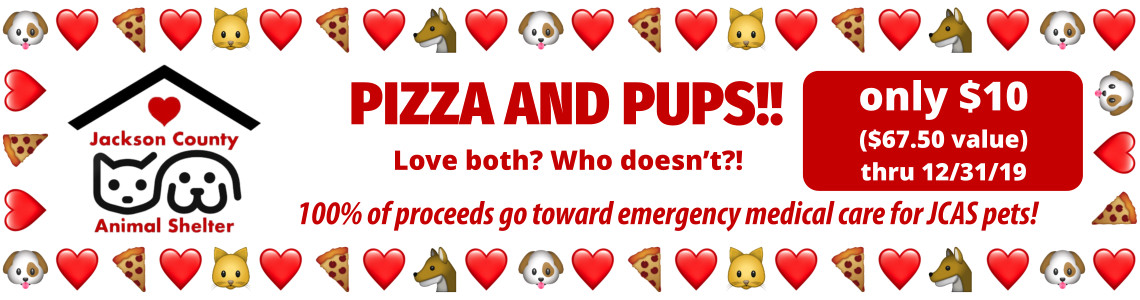 Pizza and Pups JCAS Fundraiser only $10